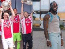 Watch Ajax FC Players Vibe To Burna Boy's 'On The Low'